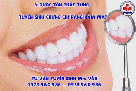chứng chỉ răng hàm mặt